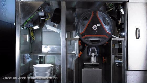 شستشوی ظروف در چند ثانیه با ماشین روباتیک